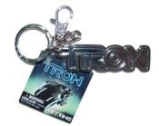 Tron Pewter Keyring - Logo