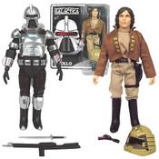 Battlestar Galactica Cylon & Captain Apollo Figures