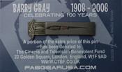 Barry Gray Centenary Commemorative Lapel Pin