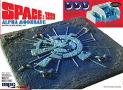 Space 1999 Moonbase model kit 17 X 17 inches