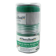 Thera-band Comfort Fit Ankle/Wrist Cuff Weights, Set of 2, Green, 1.5-Pound