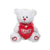 White Teddy Love Heart