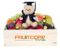 Mixed Fruit Hamper with Graduation Teddy & Ferrero