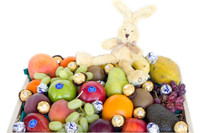 Fruit Hamper with Mini Rabbit & Chocolate