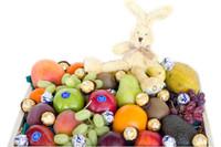Fruit Hamper with Mini Rabbit & Chocolate