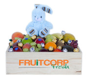 Fruit Hamper with Blue Bunny & Chocolate