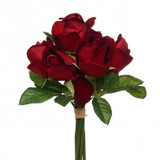 7 Roses - Silk Velvet Dark Red