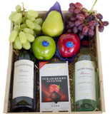 Red and White Wine Deluxe Fruit Gift