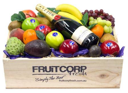Birthday Hamper - Fruit Hamper & Moet