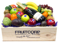 Fathers Day Gift Hamper Mixed Fruit Hamper & Moet