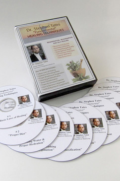 "Dr. Stephen Tates' ""FUNDAMENTAL"" Healing Techniques 10 DVD Set is a must have for every family. Have questions? This informative set will help answers your health questions, using natural techniques. Dr. Tates' Natural Approaches To Good Health!"