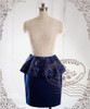 Gothic Victorian Chic: Thick Wool X Brocade Slim Skirt*3colors