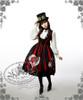 Model Show (Red & Black Stripe Ver.) (hat: P00587, blouse: TP00142, skirt: V00002N, petticoat: UN00021, leggings: P00182)