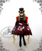 Model Show (Red & Black Stripe Ver.) (hat: P00587, blouse: TP00142, fan: P00580, leggings: P00182)