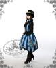 Model Show (Light Blue & Dark Blue Stripe Ver.) (hat: P00587, blouse: TP00088N, leggings: P00182)