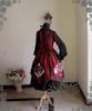 Co-ordinates Show (Red & Black Stripe Ver.) (blouse: TP00088N, skirt: SP00166, birdcage petticoat: UN00019L)