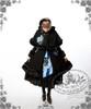 Model Show (Light Blue & Dark Blue Stripe Ver.) (hairdress: P00542, coat + cape: CT00221, black skirt: SP00166, leggings: P00182)