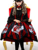 Special Limit: The Queen's Throne Alice Lolita Steampunk Large Embroidery Underbust Neckline Dress/JSK & Choker*Blue