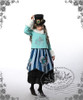 Model Show (Mint Blue + White Fur Ver.) (hat: P00587, JSK: DR00112N, black skirt: SP00166, leggings: P00182)