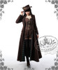 Model Show (Deep Brown Ver.) (coat: CT00051N, blouse: TP00145, corset: Y00039, shorts: SP00168, leggings: P00182)