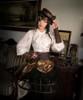 Model Show (flat hat: P00598, sleevelets: P00597, birdcage petticoat: UN00019)