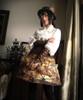 Model Show (flat hat: P00598, sleevelets: P00597, birdcage petticoat underneath: UN00019)