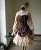 Co-ordinate Show (Front tie up View) (blouse TP00145, corset Y00039, pannier bloomers UN00024, short birdcage petticoat: UN00003new)