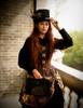 Model Show hat P00619 corset Y00039 pannier bloomers UN00024 blouse TP00150