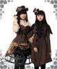 Model Show (Deep Brown Ver.) (flat hat: P00598, blouse: TP00145, skirt: SP00167, birdcage petticoat: UN00019, leggings: P00182, mini hat: P00549N, jacket: CT00244, vest underneath: CT00245, shorts underneath: SP00168)