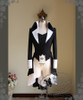 Lady Dean: Elegant Gothic Aristocrat, Academic Stand Collar Long Jacket Dress Coat