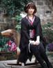 Lolita Black Dress Loose Kimono Dress Lace Jacket Lace Skirt Obi Tote Headdress Set