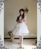 Model Show (White Ver.) (hairdress: P00607, choker: AD00572, wristlet: AD00601, fan: P00580, petticoat: UN00022, leggings: P00187)