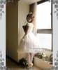 Model Show (White Ver.) (crown: P00591, choker: AD00572, wristlet: AD00601, fan: P00580, petticoat: UN00022, leggings: P00187)