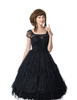 Chiffon Lover-Waltz, Classic Lolita Starlight Gauze 2pcs Knee Length Dress Set*2colors Instant Shipping