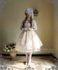 Model Show (Ivory + White Stripe Ver.) (hat: P00546, cutsew: TP00137, gloves: P00592, birdcage petticoat: UN00019, leggings: P00187)