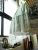 Vintage Midi Dress Printed A Line Dress Skirt Piece Petticoat Choker Set Blue Mint