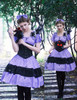 Model View (Violet Ver.) corset Y00027, brooch P00627