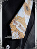 Gift Only! (If Purchasing CT00225 or CT00137) Elegant Gothic Rococo Lolita Original Prints Slim Neck Tie*White+Light Blue