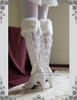 Steel Rose, Elegant Gothic Steampunk Fake Leather & Fur  Long Spats/ Gaiters *3color Instant Shipping