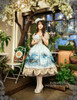 Model Show (Fairy Mint Ver.) (dress set: DR00182, birdcage petticoat: UN00019, fan: P00580, leggings: P00187)