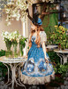 Model Show (Misty Blue Ver.) (dress set: DR00182, birdcage petticoat: UN00019)