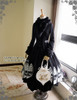 Co-ordinates Show (Black Ver.) (fur collar: P00611, skirt: SP00174, birdcage petticoat: UN00019N, tote: P00613)