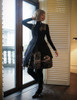 Tartarus Wall, Elegant Gothic Finger Loop Dress/Bottoming Dress*2colors Instant Shipping