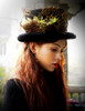 Steel Rose, Steampunk Wedding Dandy Bird Nest & Gear Deco Top Hat