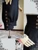 Steampunk Riding Breeches High Waisted Shorts Black Shorts