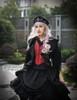 Model Show (Black Ver.) (hairdress: P00610, long vest: CT00243, skirt: SP00180, petticoat: UN00022, birdcage petticoat: UN00003N)