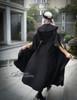 Model Show (Black Ver.) (hairdress: P00610, long vest: CT00243, skirt: SP00180, petticoat: UN00022, birdcage petticoat: UN00003N, leggings: P00182)