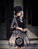 Model Show (Black + Grey Ver.) (hat & sash set: P00614, blouse: TP00125N, dress: DR00189, tote: P00583)