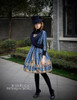 Model Show (Black + Dark Blue Ver.) (jacket: CT00268, JSK: DR00189, blouse: TP00125N, leggings: P00182)