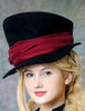 Elegant Gothic Dandy Bias Top Hat & Sash Set*4colors